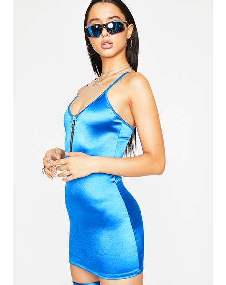 Viral Outlaw Satin Dress