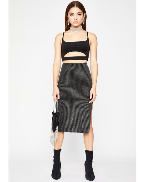 Kiss My Glam Midi Skirt