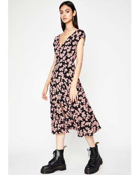 Fallin' For You Floral Dress