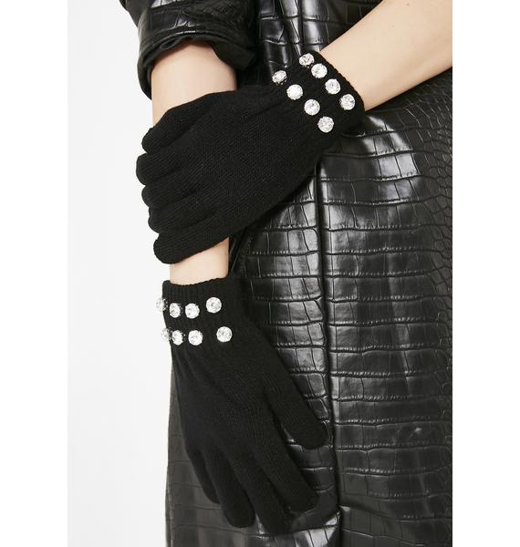 Flashy Habit Diamante Gloves
