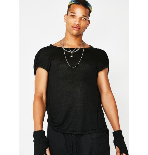 MNML Dark Matrix Ruched Sleeve T-Shirt