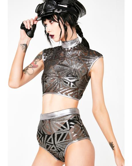 Liquid Labyrinth Sequin Top