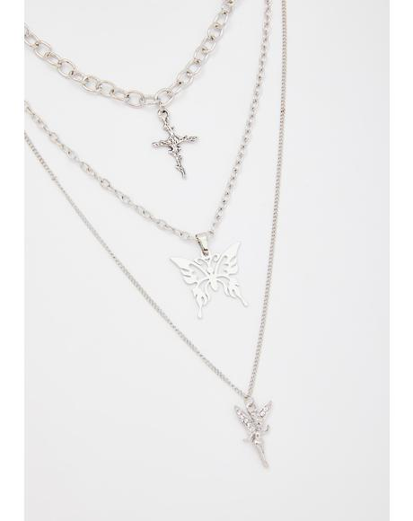 Fluttering Prayers Layered Necklace
