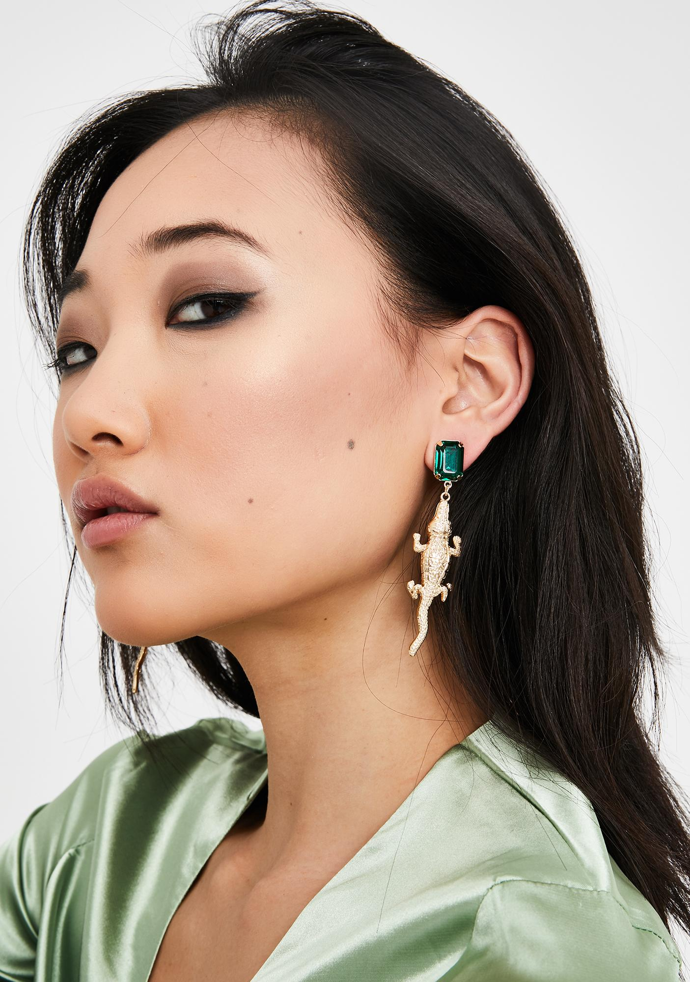 Jungle Bae Alligator Earrings