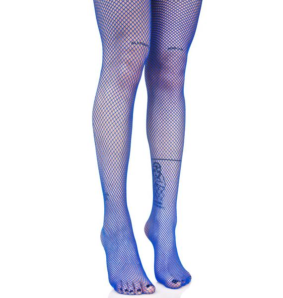 Cobalt Demon Days Fishnet Tights