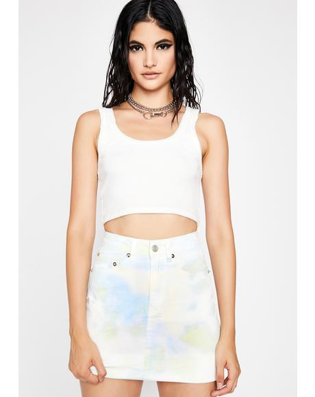 Mint Dessert Delight Tie Dye Skirt