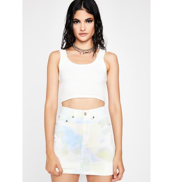 Mint Dessert Delight Tie Dye Skirt