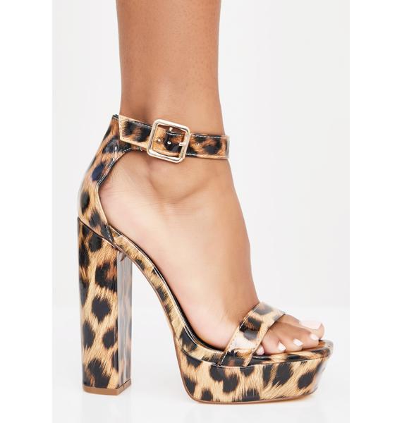 Fierce Model Walk Strappy Heels