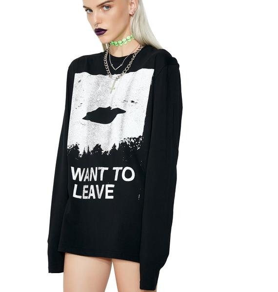 Disturbia I Want To Leave Long Sleeve