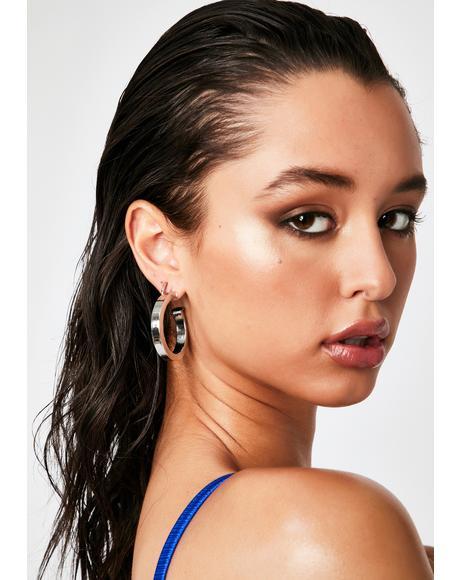 I Feel Fab Hoop Earrings