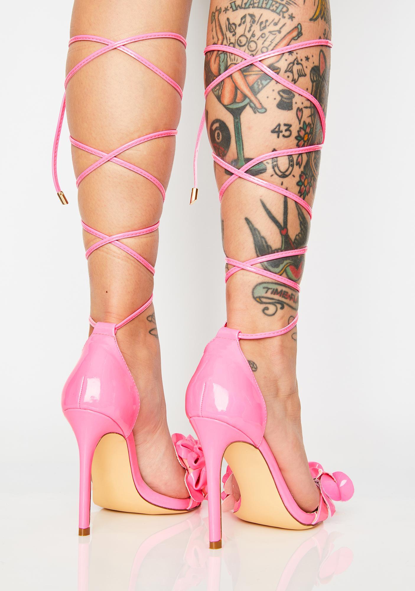 AZALEA WANG Bubblegum Yenny Heels