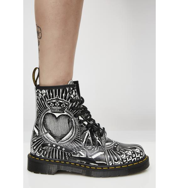 Dr. Martens 1460 8 Eye Playing Card Boots