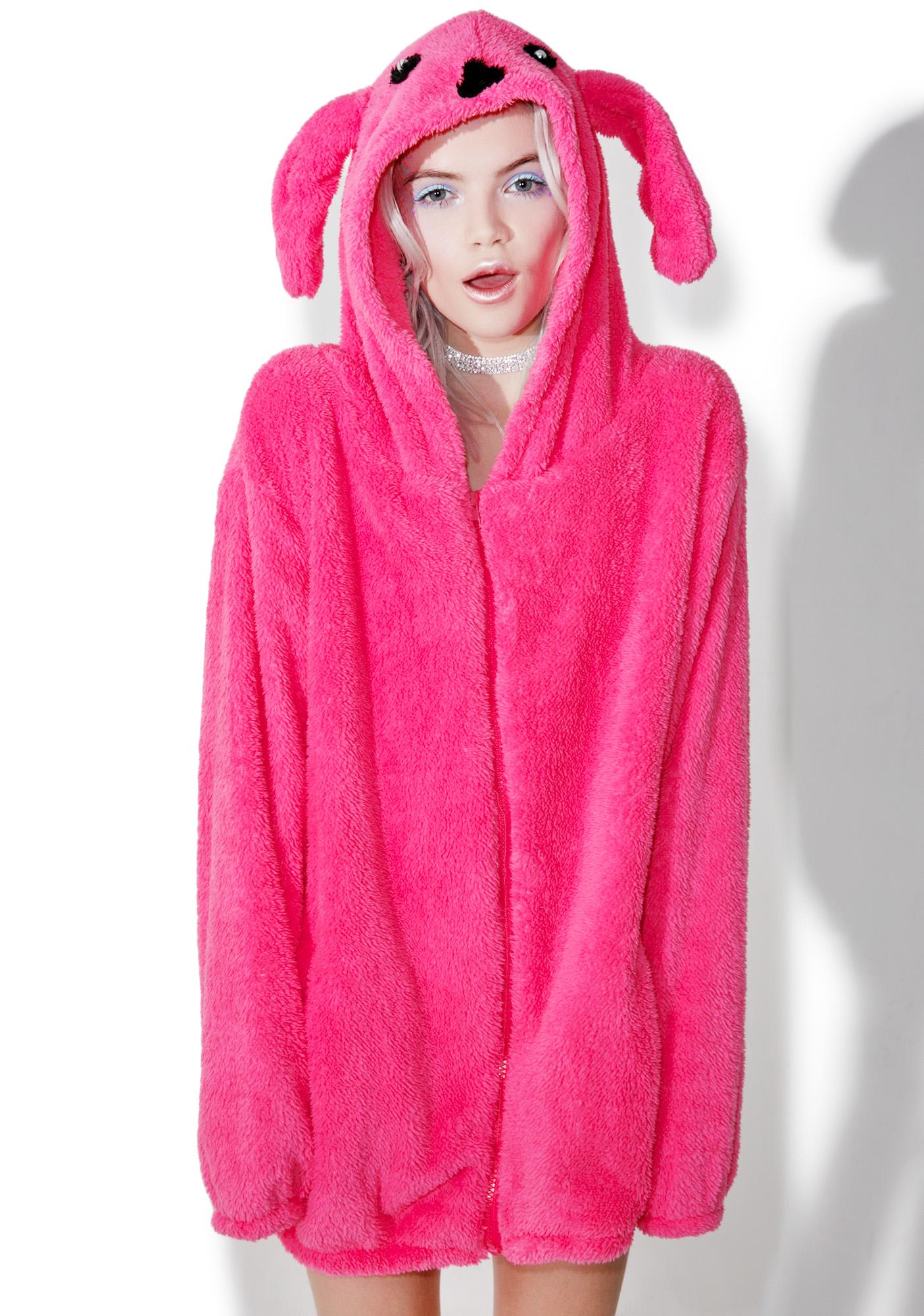 Cute Pink Rabbit Hoodie