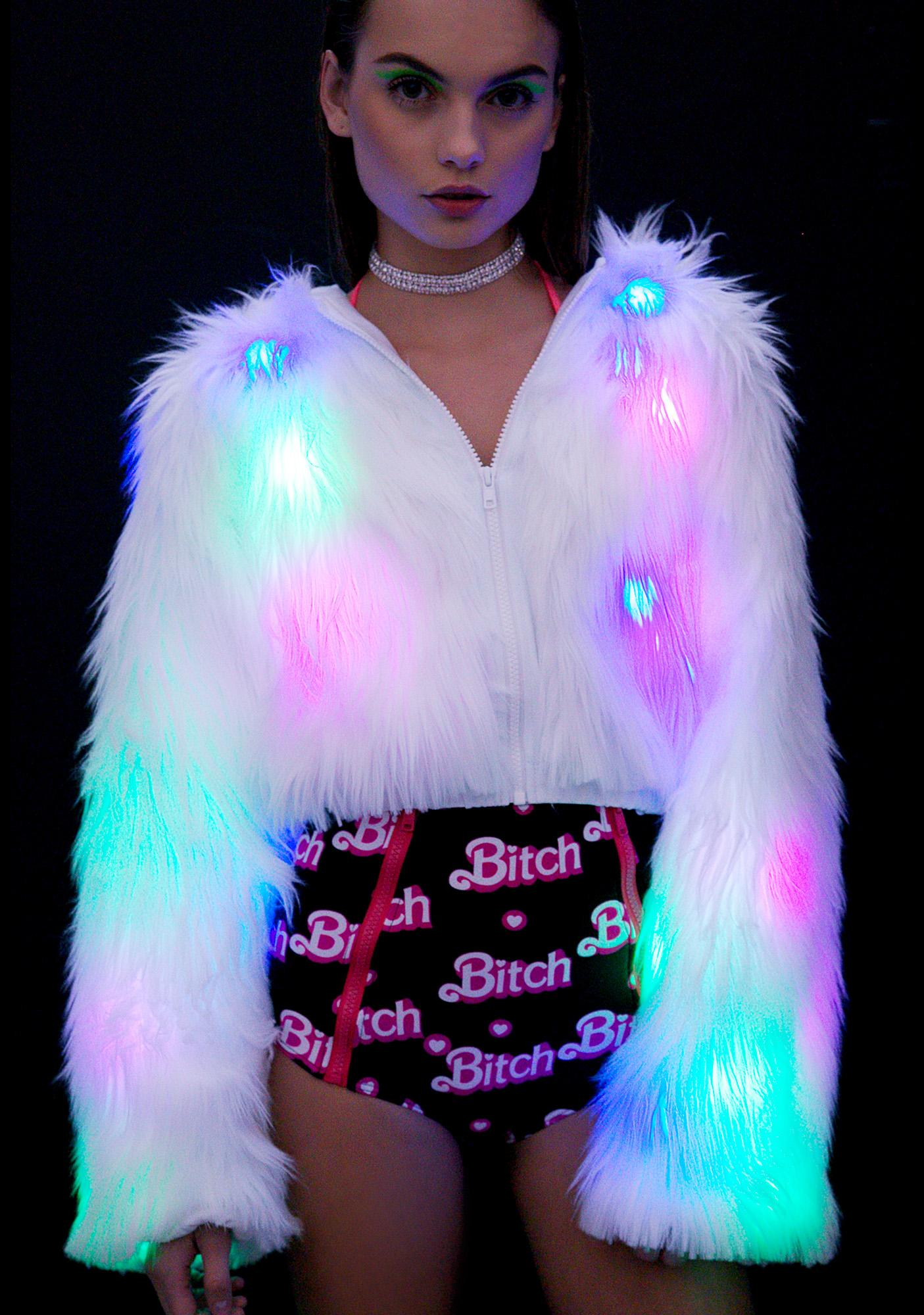 J Valentine Flashing Lights Cropped Jacket