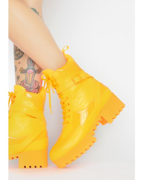 Citrus Energy Boost Lace Up Boots