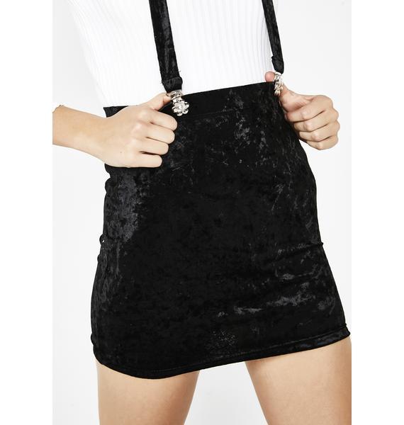 Current Mood Crushed Hearts Suspender Skirt