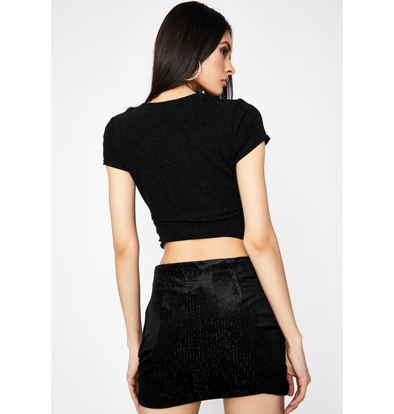 Bish I'm Hawt Velvet Skirt
