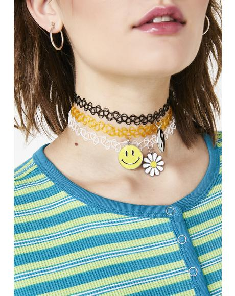 Sunshine Tripster Tattoo Choker Set