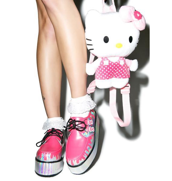 T.U.K. Pretty Pink Paint Bucket Hello Kitty Creepers