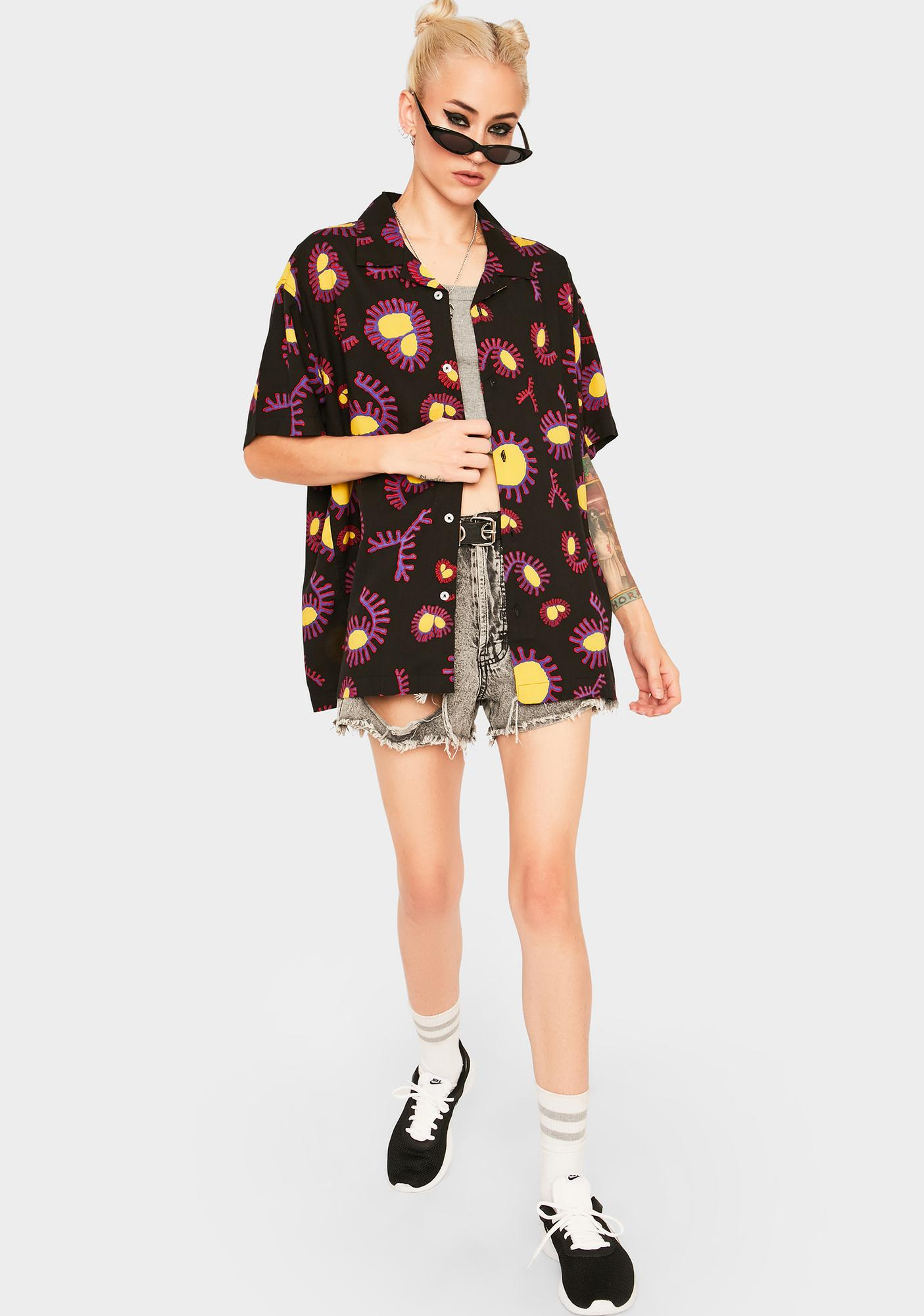 Obey Duster Woven Button Up Shirt