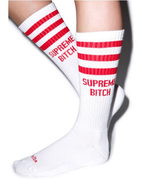 Supreme Bitch Socks