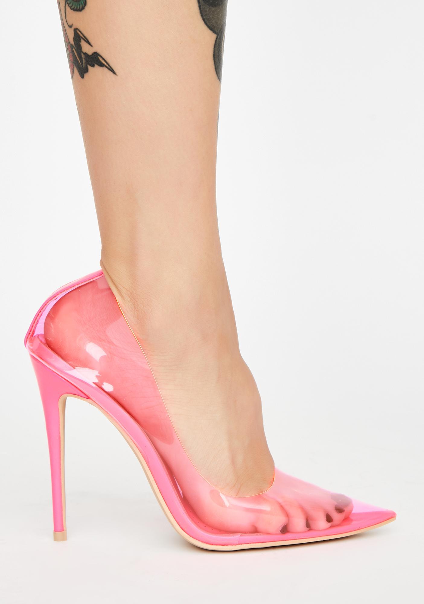 AZALEA WANG Madame PVC Heels