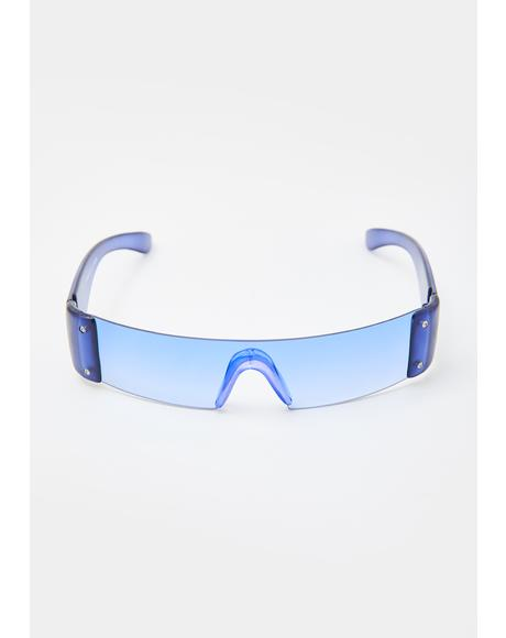 Violet Slim Shield Sunglasses