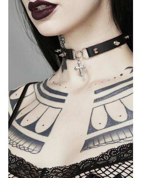 Mystic Revelation Cross Choker