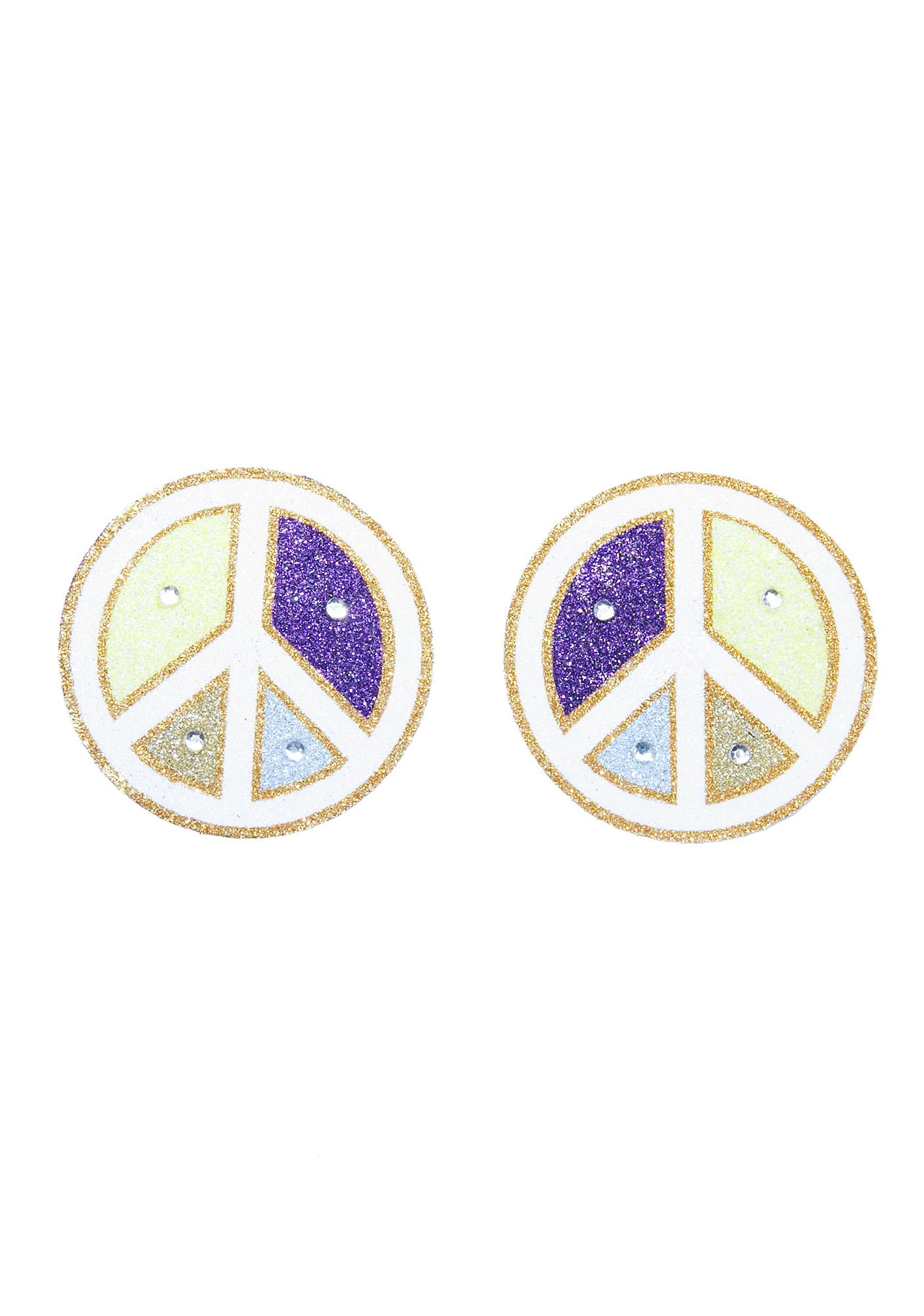Love And Madness Peace Symbol Pasties