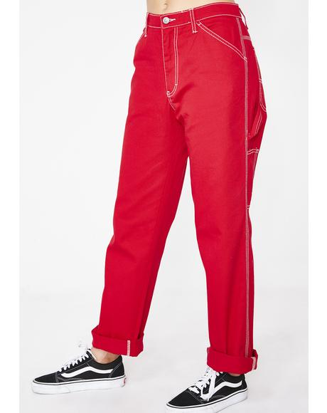 Flame Carpenter Pants