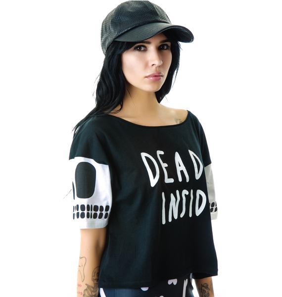 Lazy Oaf Dead Inside Crop T-Shirt
