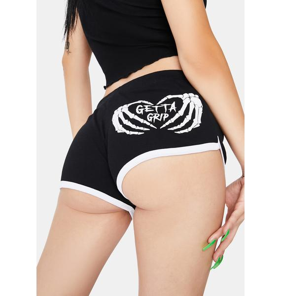 Too Fast Get A Grip Retro 70s Booty Shorts