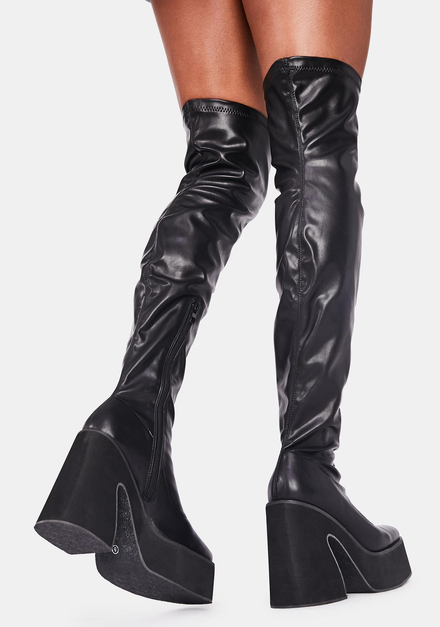 Koi Footwear Platform Thigh High Boots