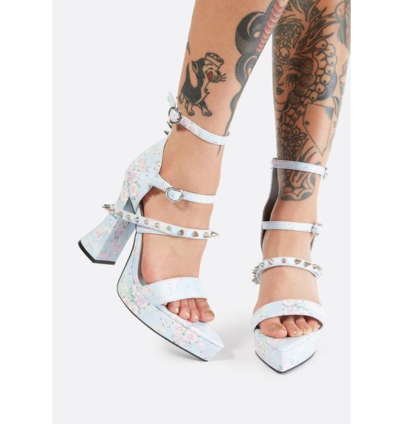Sugar Thrillz Love & War Studded Heels