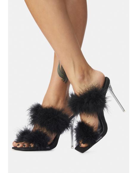 Pixie Faux Fur Heels