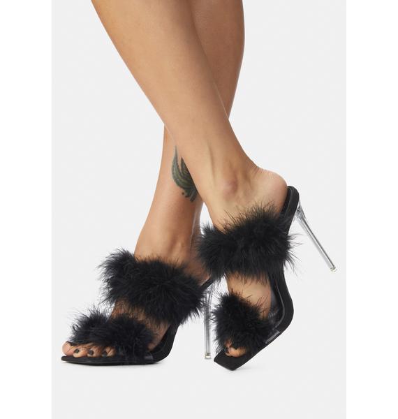 AZALEA WANG Pixie Faux Fur Heels