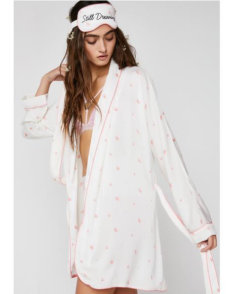 Rosebud Wallpaper Robe