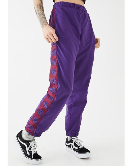 Rose Nylon Track Pants