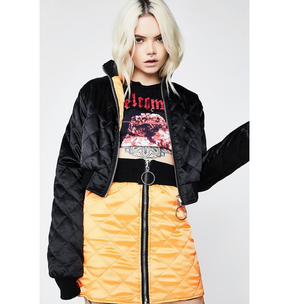 Poster Grl Two Faced Reversible Bomber
