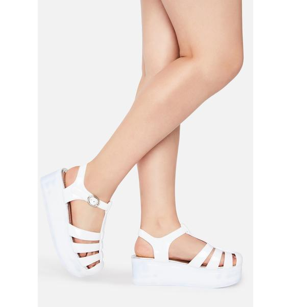 Angel Ditch The Daydream Patent Sandals