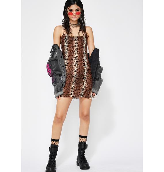 Fierce Savage Stunt Sheer Dress