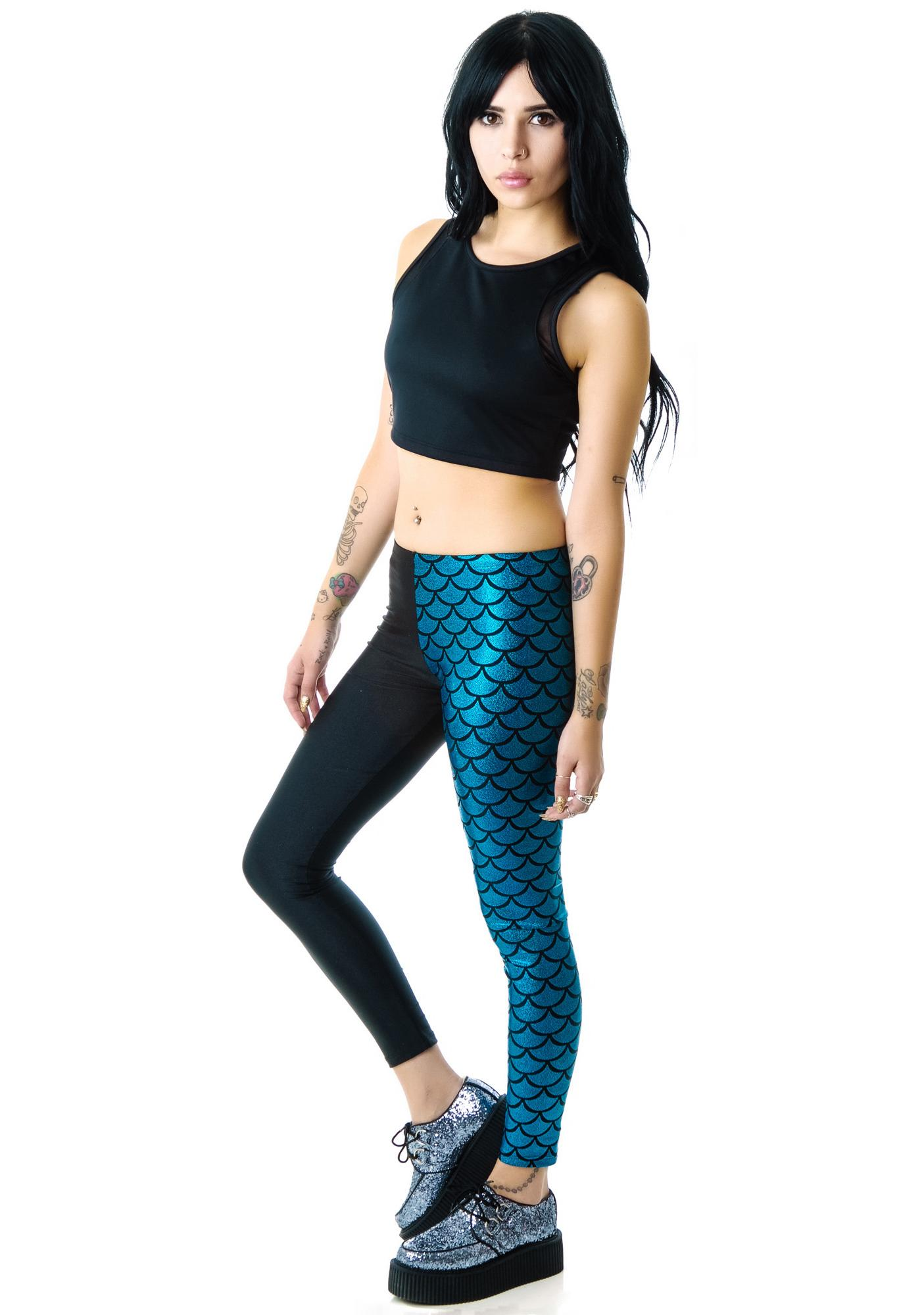 Zara Terez Turquoise Half Mermaid Leggings