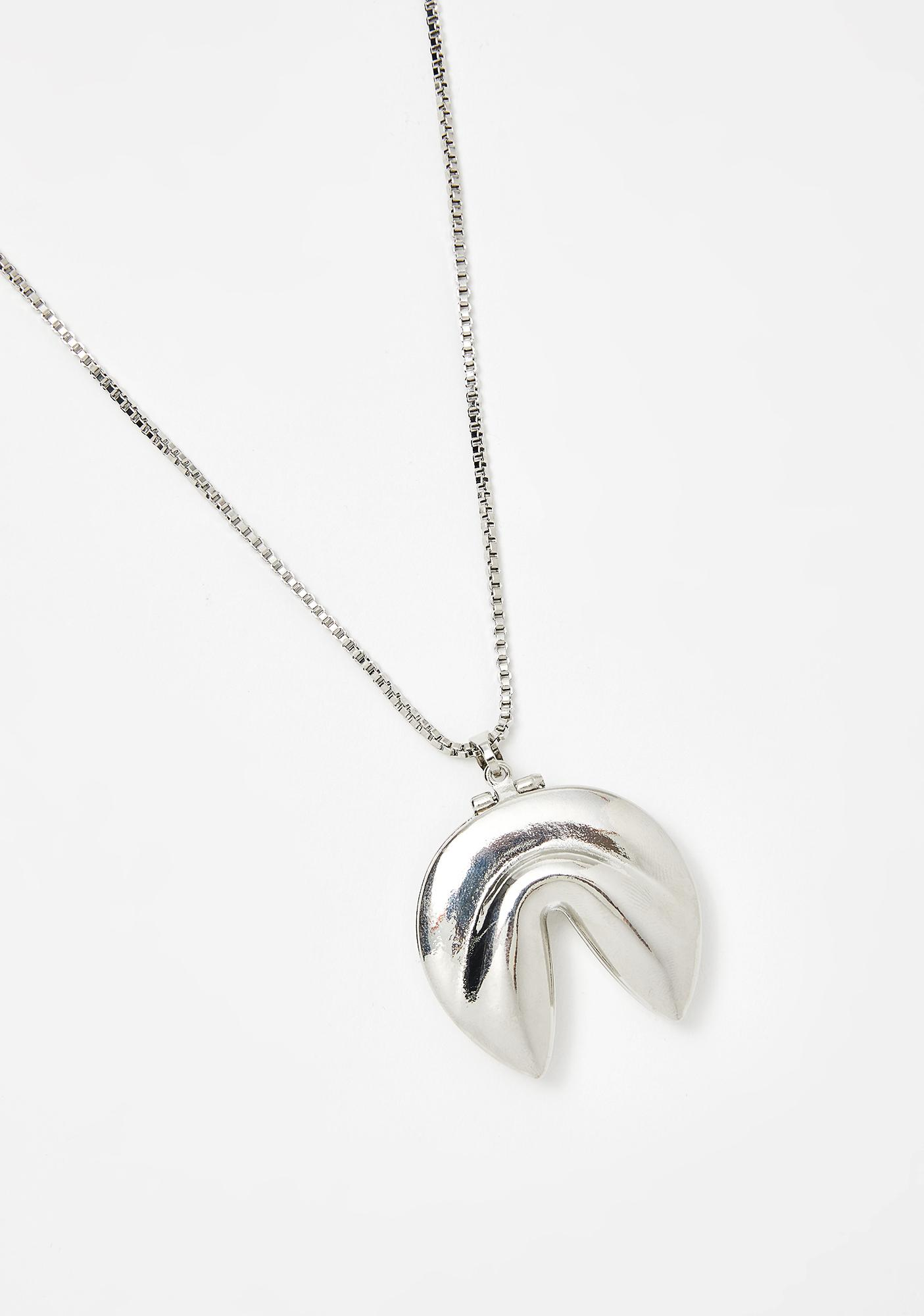 Flashy Fortune Cookie Necklace