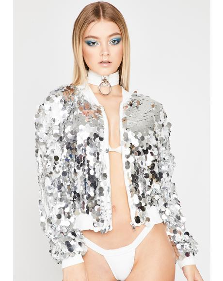 Metallic Magic Sequin Jacket