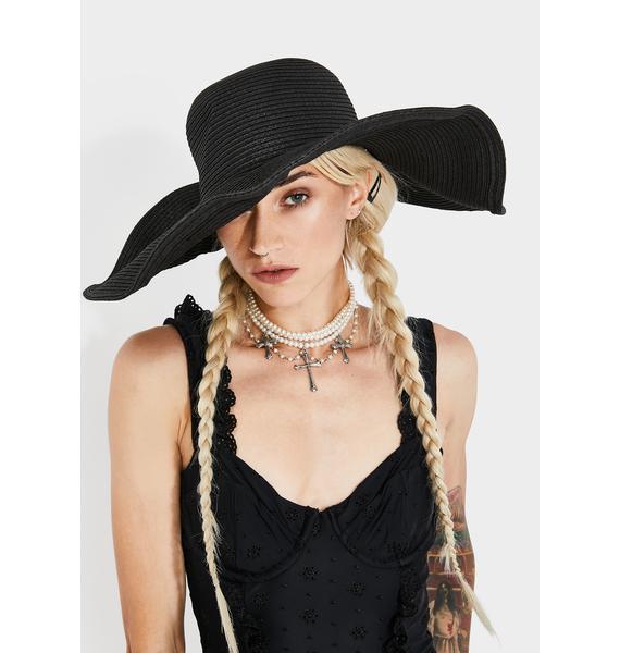 Raven Seeking Sunshine Wide Brim Hat