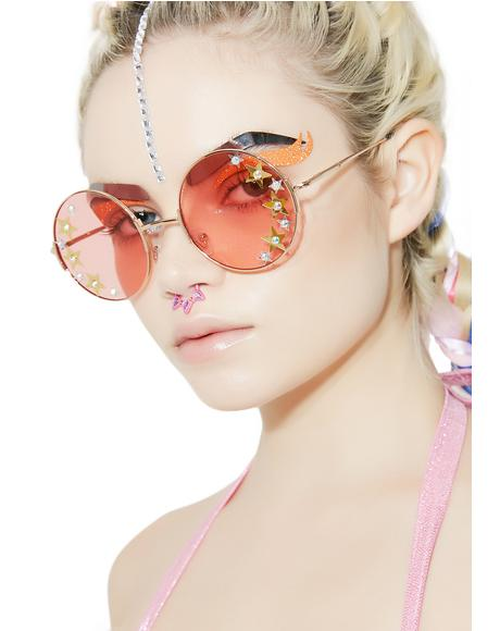 Disco Doll Round Sunglasses