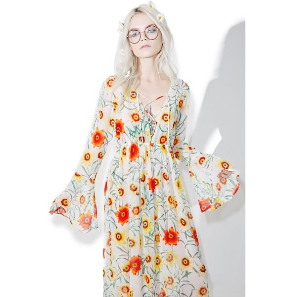 Wildfox Couture Wild Daisy Lace Up Dress