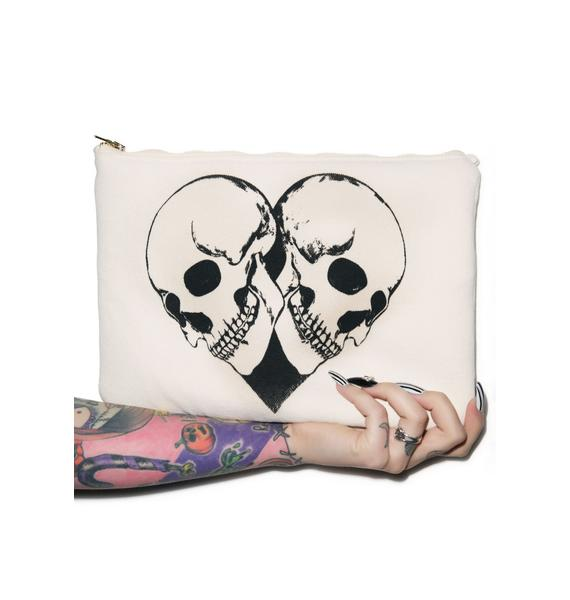 Lauren Moshi Skull Heart iPad Clutch
