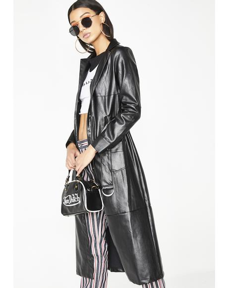 Night Terror Belted Trench Coat