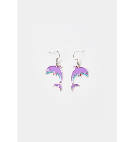 Flippin' Out Dolphin Earrings